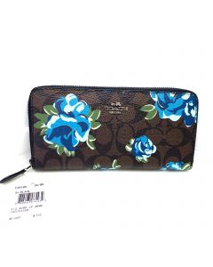 COACH WALLET FLORAL DESIGN
