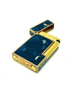 S.T. DUPONT LIGHTER BLUE/BROWN