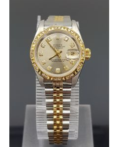 ROLEX 69173 HALF GOLD LADIES WATCH