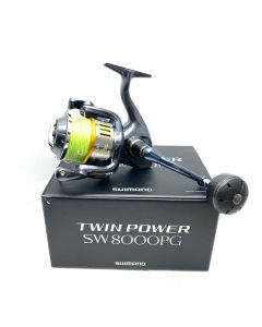 SHIMANO SW8000PG FISHING REEL-MADE IN JAPAN/TWIN POWER/LARGE/GREY