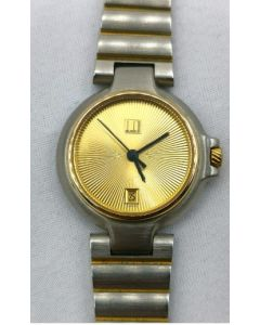 WATCH-BOY/QZ/GOLD RD/SIL BRACELET