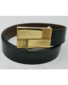 BELT-BLK/GOLD BUCKLE