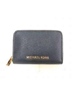 MICHAEL KORS WALLET-LD/RECT/BLUE/NEW
