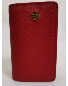 TORY BURCH RED LEATHER 6 KEY CASE