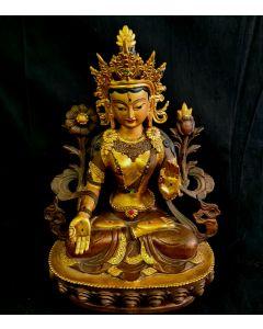 METAL TARA GODDESS  DISPLAY GOLDEN [Length 20cm x height 30cm]