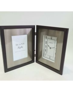 Bulova B1234 Winfield Picture Frame Clock, Espresso Brown