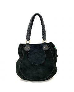Shanghai Tang Shoulder Fur Bag