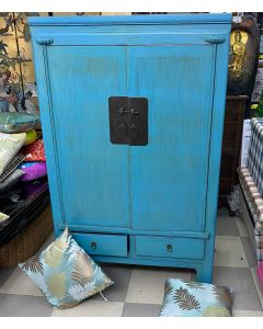CABINET-2 DOOR/2 DRAWER/53X95X155CM/BLUE