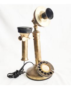 BRASS CANDLESTICK  TELEPHONE  MADE IN ENGLAND [DISPLAY ONLY]
