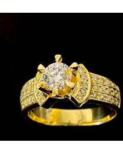 750 YG Diamond D1=0.58cts Ring