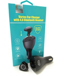 VORTEX CAR CHARGER WITH BT HEADSET