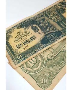 Malaya Japanese Occupation $10 notes