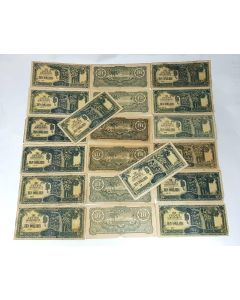 Malaya Japanese Occupation $10 notes - 20pcs