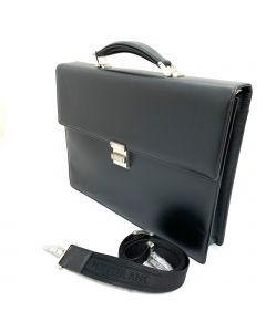 Montblanc Meisterstuck Single Gusset Briefcase Made in Italy