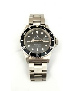 WATCH-ROLEX/SUB/D/BLACK DIAL/SS BRACELET