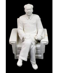 MAO ZEDONG FIGURINE SITTING/WHITE