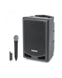 SAMSON EXPEDITION XP208W PORTABLE SPEAKER-W/MIC/BT/WHEEL/BLK