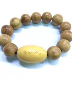 Ivory Thai Charming Bead & Wood Bracelet