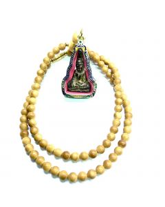 Ivory Necklace With Thai Amulet