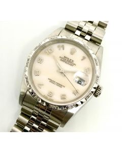 Rolex 16234 MOP Arabic Dial Stainless Steel Watch