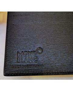 Montblanc Men's Leather Half Wallet 6cc 38036 Black Saffiano