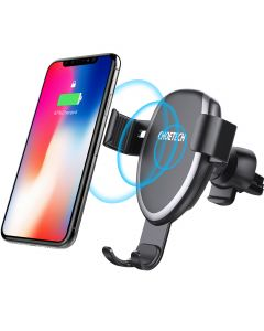 CHOETECH Gravity Air Vent Phone Holder Fast Wireless Charging