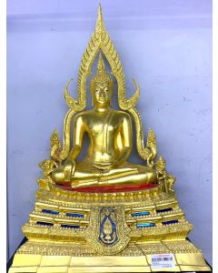 FIGURINE-THAI BUDDHA/W FIRE FRAME/LARGE