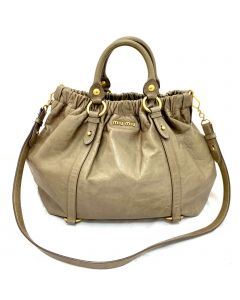 Miu Miu Leather Two Way Handbag