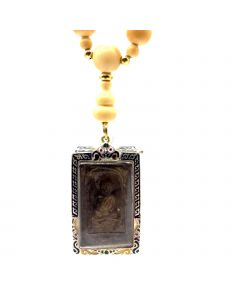 Vintage Ivory Necklace with Lp Thuad Amulet