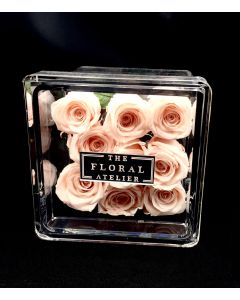 THE FLORAL ATELIER 9 ROSES CASED BOUQUET