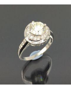 Lady Diamond Ring 14K/WG/D1=approx -1.33cts/Cert
