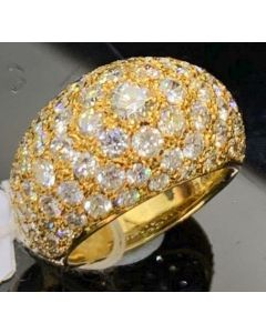 DIAMOND RING [5.02CARATS] [18KYG YELLOW GOLD 17.2GM]