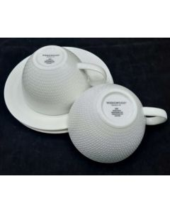 TEA CUP & SAUCER-2PC SET/WHITE