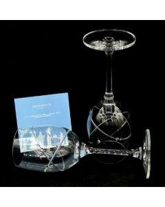 WINE  GLASS-2PC W/CRYSTAL STUD