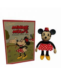 DISNEY MINNIE MOUSE DISPLAY TOY FIGURINE-POSABLE DOLL 17CM H