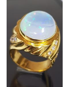 Diamond/Opal Men's Ring