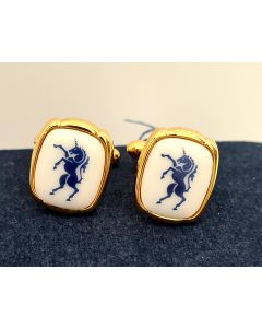 CUFF LINK-BLUE UNICORN