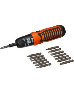 Black + Decker A7073 6V Alkaline ScrewDriver Set