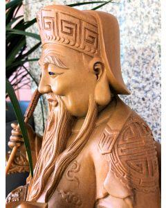 Tua Pek Kong Hand-Crafted Wood Statue
