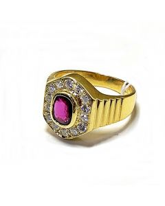 RUBY WITH DIAOMONDS RING
