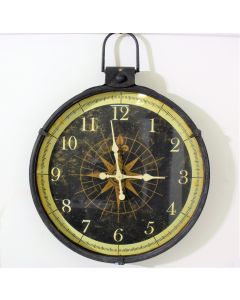Creative Home Wall Clock with Compass Image