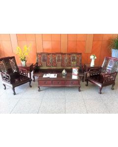 Rosewood Oriental Sofa Set