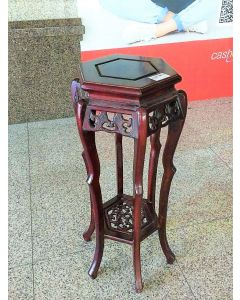 Rosewood Oriental Plant Stand