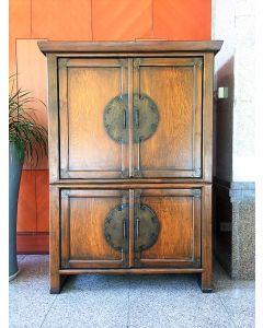 Vintage Rustic Teak  Cabinet