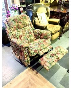 Push Back Recliner Fabric Chair