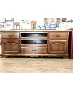 Teak Colonial Media Console