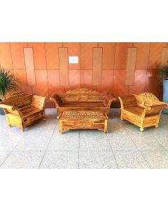 Carved Teak Living Room Set
