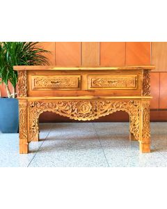 Teak Hall Console Table with 2 Drawer