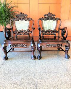 Rosewood Antique Chair (Pair)