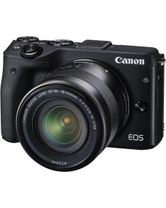 Canon EOS M3 with EF-M 18-55mm IS STM Kit Black
